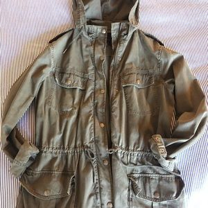 Aritzia olive army jacket